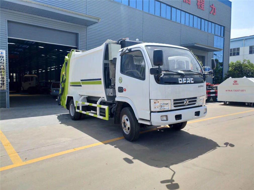 东风多利卡压缩垃圾车(5-6方)-东风多利卡压缩垃圾车(5-6方)程力威CLW5070ZYST5压缩式垃圾车