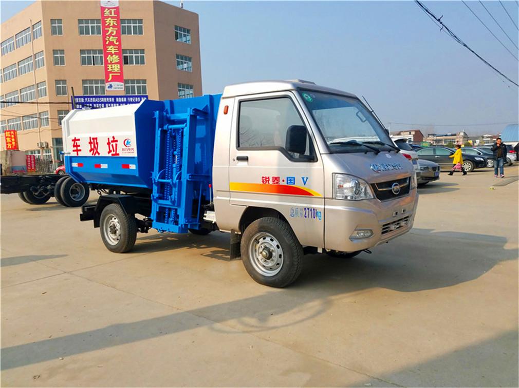 2-3方凯马挂桶式垃圾车-2-3方凯马挂桶式垃圾车 程力威牌CLW5030ZZZK5自装卸式垃圾车
