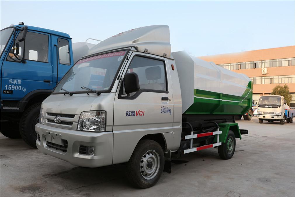 3方福田驭菱挂桶式垃圾车-3方福田驭菱挂桶式垃圾车 程力威CLW5031ZZZB5自装卸式垃圾车