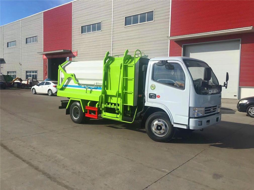 东风多利卡侧装压缩垃圾车(5方)-(5方)东风多利卡侧装压缩垃圾车 5吨程力威CLW5040ZZZ5自装卸式垃圾车