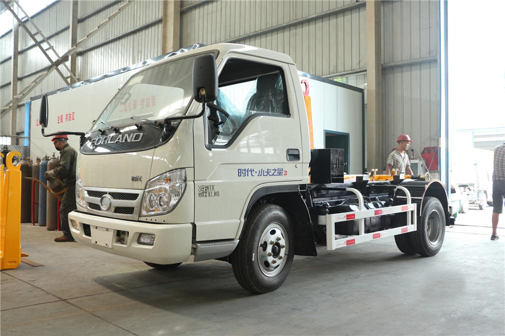(4-5方)福田小卡车厢可卸式垃圾车-福田小卡(4-5方)车厢可卸式垃圾车 程力威牌CLW5040ZXXB5车厢可卸式垃圾车