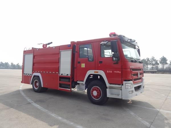 重汽豪沃单桥水泡沫两用消防车-重汽豪沃单桥水泡沫两用消防车