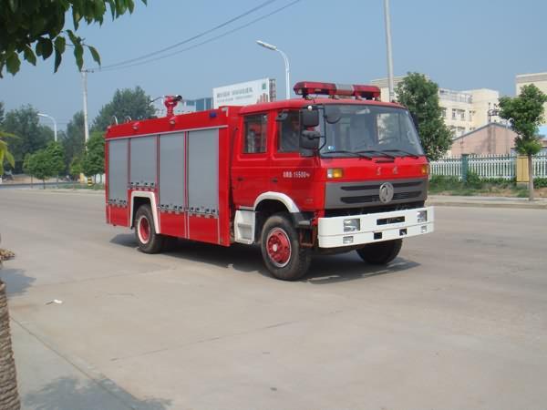 东风145双排座水罐泡沫两用消防车-东风145双排座水罐泡沫两用消防车