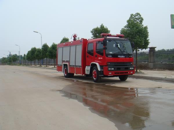 庆铃4700单桥双排座水罐消防车-庆铃4700单桥双排座水罐消防车