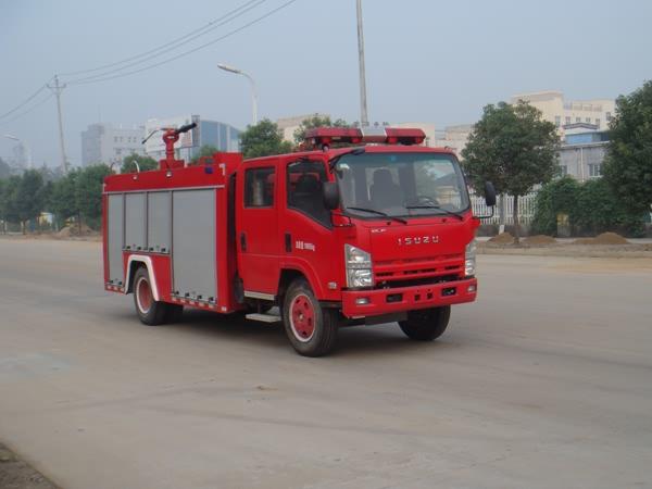 庆铃4475单桥双排座水罐泡沫消防车-庆铃4475单桥双排座水罐泡沫消防车